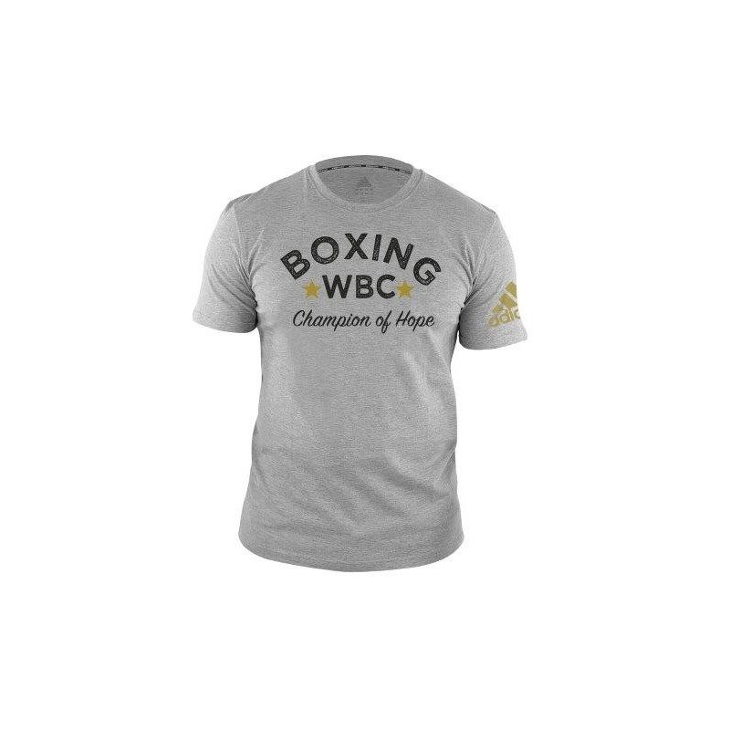 adidas WBC Co-Branded Boxing Line, 100% Cotton, Half Sleeves T Shirt | USBOXING.NET